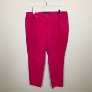 Talbots Hot Pink Corduroy Jeans